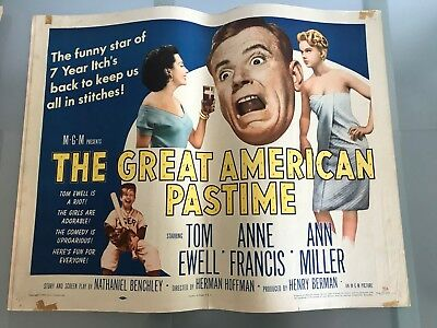 ORIGINAL HALF SHEET POSTER 22x28: The Great American Pastime (1956) Tom Ewell