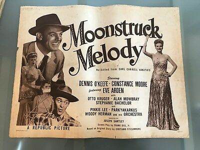 ORIGINAL HALF SHEET POSTER 22x28: Moonstruck Melody (Earl Carroll Vanities) 1945