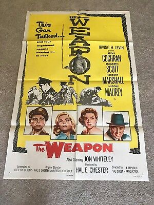 ORIGINAL 1-SHEET POSTER 27x41: The Weapon (1956) Steve Cochran, Elizabeth Scott