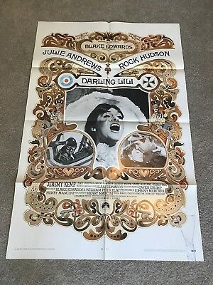 ORIGINAL 1-SHEET POSTER 27x41: Darling Lili (1970) Julie Andrews, Rock Hudson