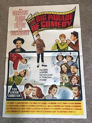 ORIGINAL 1-SHEET POSTER 27x41: The Big Parade of Comedy (1964) Greta Garbo