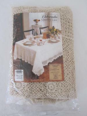 UNUSED Vintage Hand CROCHET Lace Banquet TABLECLOTH