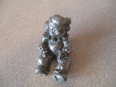 Vtg Circus Clown Pewter Miniature Figurine