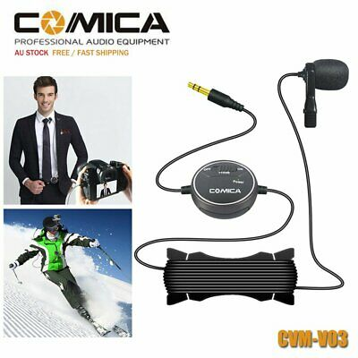 Comica CVM-V03 Lavalier Video Microphone Mic for GoPro Camera Smartphone iPhone