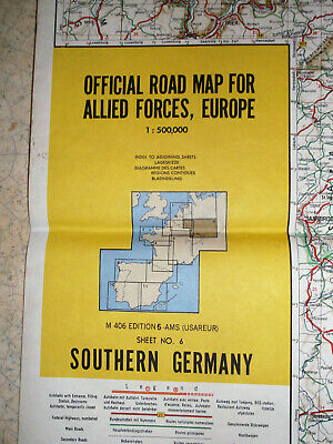 b) OFFICIAL ROAD MAP FOR ALLIED FORCES EUROPE (N°6) SOUTHERN GERMANY (1959)