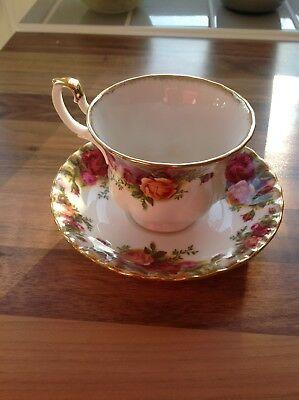Royal Albert Old Country Roses Tea Cup And Saucer Perfect Condition