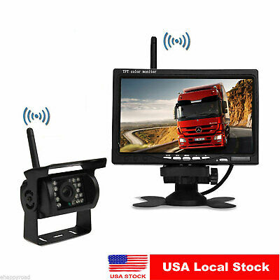 "Digital Wireless Rear View Backup Camera System 7"" Lcd For Rv Camper Trailer"
