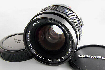 OLYMPUS OM SYSTEM ZUIKO MC AUTO W 35mm F2 For OM [Excellent] w/ Caps Japan