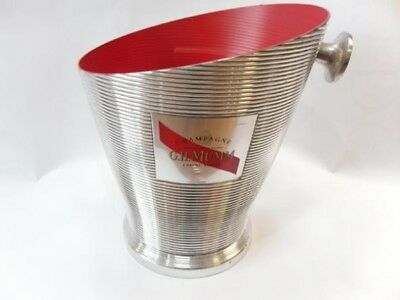 Mumm  Champagne Cooler Bucket Large Size Trademark Red And Silver Metal New