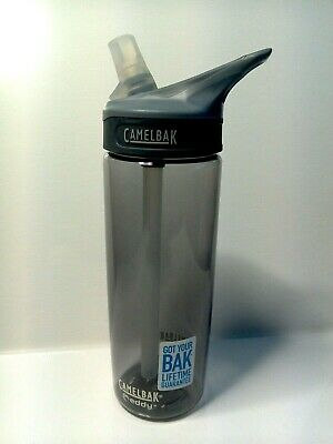 3154519e1f CAMELBAK Eddy Tritan Water Bottle Charcoal Spill-proof BPA-free 20oz/0.6L