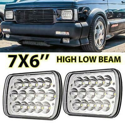 "2x H4 5X7"" 7X6"" LED Headlight Sealed Beam Truck High-Low Driving Light Fog Lamp"