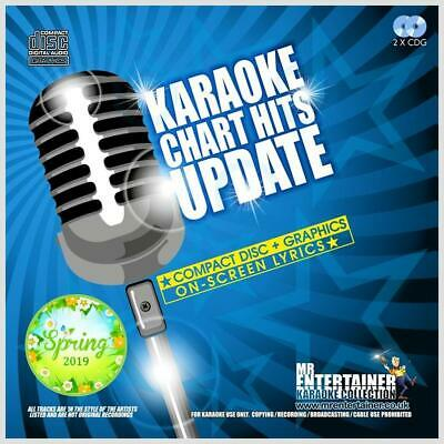 Mr Entertainer Karaoke Chart Hits Update - Spring 2019, 36 Tracks, 2 CDG Discs
