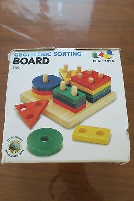 Plan Toys - Geometric Sorting Board - Wooden. Excellent condition.