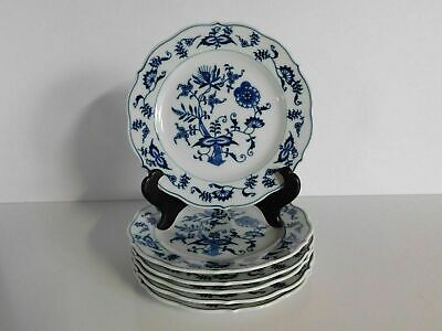"""6 Blue Danube Old Banner Mark 6 3/4"""" Bread And Butter Plates Set #1"""