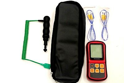 Racing Tyre Temperature Probe Kit with fast adjustable needle probe and pouch.