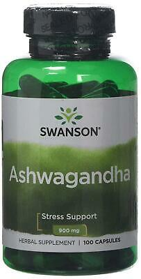 Ashwagandha Capsules 900mg Stress & Fatigue Relief Swanson 4 FOR THE PRICE OF 2!