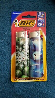 2 Pack of Bic Lighters Special Edition- Nature 1