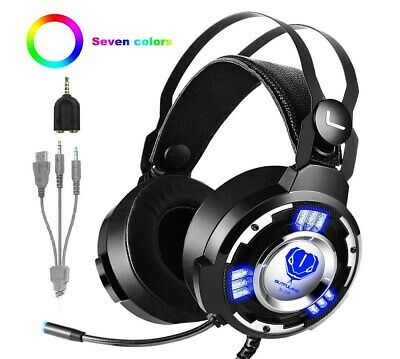 Beexcellent Gm-3 Pro Wired Gaming Headset With Mic LED Lights