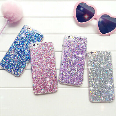 New Bling Glitter Sparkle Girls Soft Phone Case Cover For iPhone 8 7 Plus XS MAX