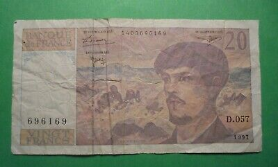 French 20 Francs Banknote 1997.
