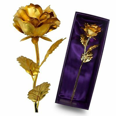 Premium 24K Gold Dipped Handcrafted Real Artificial Rose in Beautiful Gift Box