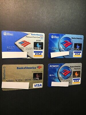 4 Expired Credit Cards For Collectors - Bank Of America Lot 1 (3270)