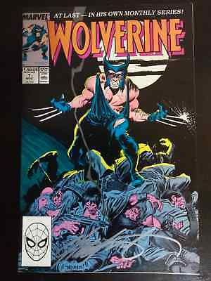 1988 Wolverine #1 Signed By Chris Claremont X-men