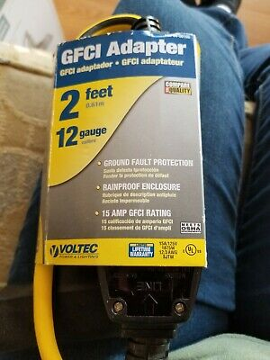 GFCI New Adapter 2ft 12gauge Voltec Power And Lighting