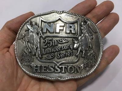 25th Anniversary National Finals Rodeo HESSTON NFR59 NFR83 Vintage Belt Buckle