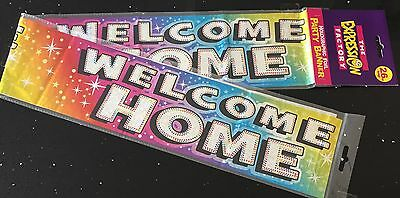WELCOME HOME Banner * 2.6M Can be split into 3 * Multicoloured   - Welcome Home
