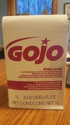 GOJO 2117-08 Deluxe Lotion Soap with Moisturizers 1 L refill for NXT