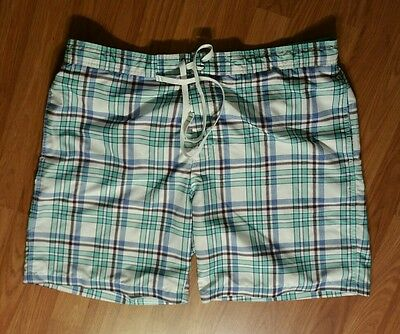 786d503f46 MENS MERONA BOARD SHORTS SWIM TRUNKS BATHING SUIT XL Blue Gingham ...