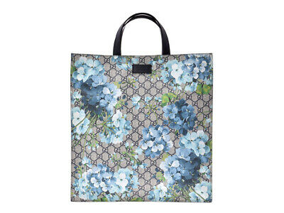 c7af8926158 Authentic Gucci GG Supreme Bloom 2WAY Tote Blue Series Floral P  805000921743000