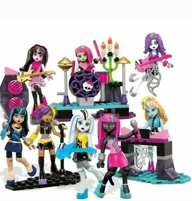 New Official Monster High School Glam Ghoul Band Doll Playset