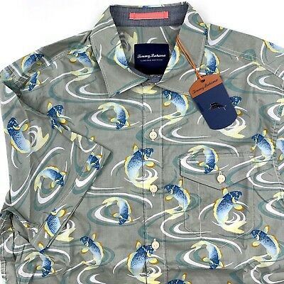 63ff3e78769 Tommy Bahama Mens Camp Shirt The Kois Of Summer Limited Ed T318543 New  Medium M