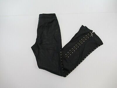 Harley Davidson Leather Motorcycle Studded Bootcut Pants Measured 26x32 #A831