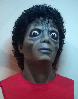 Michael Jackson Lifesize 1:1 Bust Zombie Thriller Statue Prop mask NOT Hot Toys