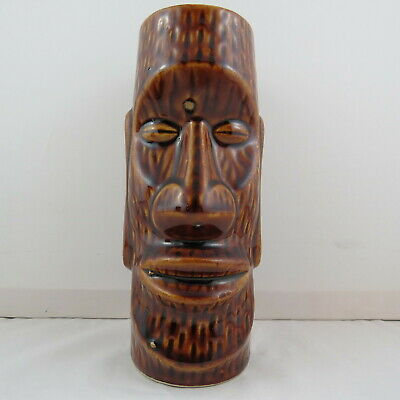 Vintage Orchids of Hawaii Tiki Mug - Easter Island Face - Made in Japan
