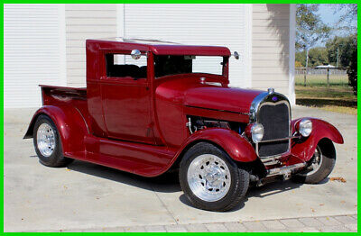 1928 Ford Model A Show Truck / Leather Interior / New Pinstriping 1928 Ford Model A Pickup Automatic 383 Stroker