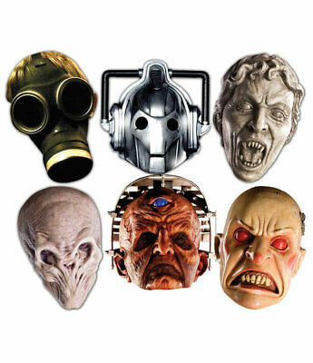 Doctor Who Monsters Halloween 2D Card Party Face Masks Variety Set of 6