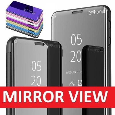 For Samsung Galaxy S10 Plus S10e S9 Smart Clear Mirror Leather Stand Case Cover