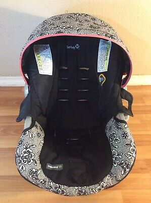 Safety 1st On Board 35 Cosco Dorel Baby Car Seat Cushion Canopy Set Part Black