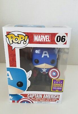 Funko Pop Marvel Captain America 2017 Comic Con Exclusive NEW