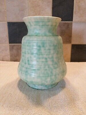 GEORGE CLEWS VINTAGE VASE-PALE GREEN-OUTSIDE EXC COND-INSIDE IS AGE WORN- 1940s