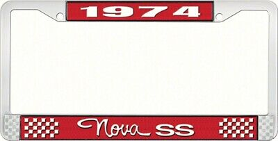 OER LF3567403C 1974 Nova SS License Plate Frame Style 3 Red