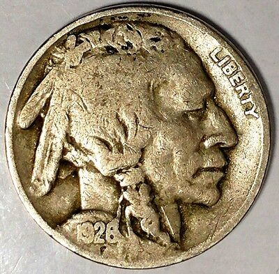 "1926-P 5C Buffalo Nickel, 17rr0209 ""Only 50 Cents for Shipping""*1"