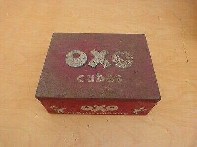 Vintage Collectable OXO Food Advertising Tin 7x17x13cms Free P&P