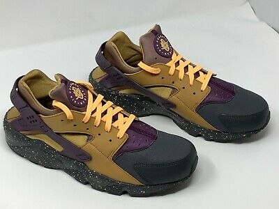 free shipping 44636 2320e Nike Air Huarache Run PRM Gold Purple Men s Sz 13 Anthracite 704830 012