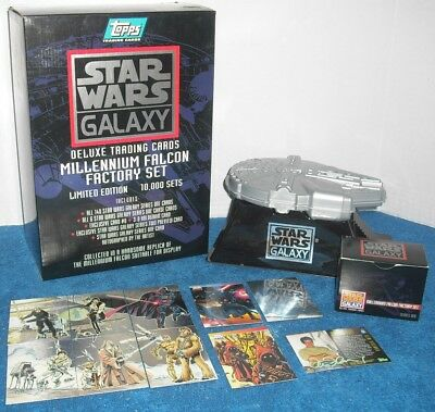 Star Wars Galaxy Millennium Falcon Topps Set Deluxe 1 0 Promo 1-6 Etched Foil
