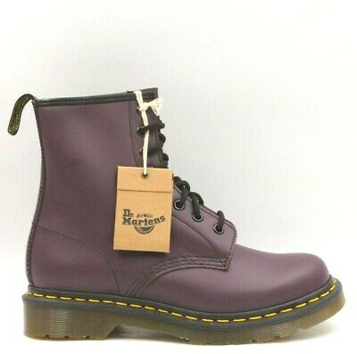 22d64f84bfd DR. MARTENS 1460 Women Lace Up Combat Boots Size US 7 Purple Smooth Leather